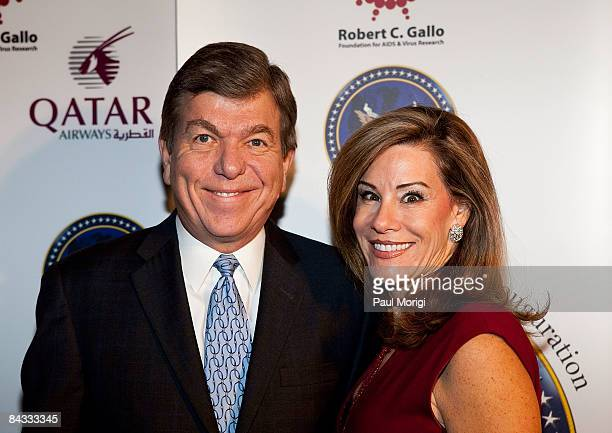 Congressman Roy Blunt and Abigail Blunt at the celebration to honor the Inauguration of Barack Obama at Cafe Milano on January 16, 2009 in...