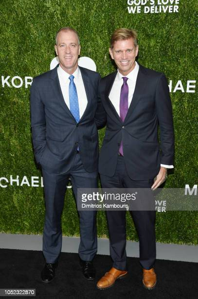 Congressman Sean Maloney and Randy Florke attend God's Love We Deliver Golden Heart Awards at Spring Studios on October 16 2018 in New York City