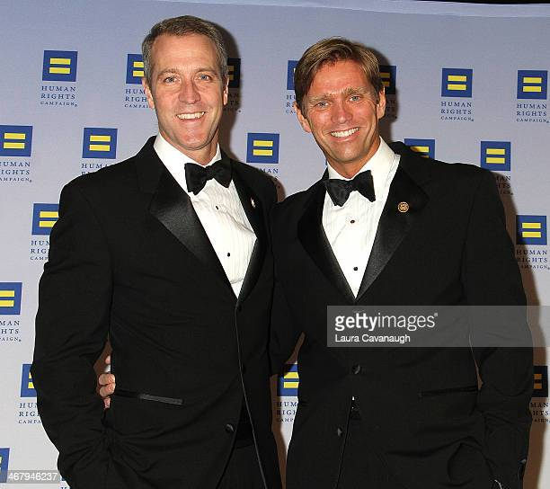 Congressman Sean Patrick Maloney and fiance Randy Florke attend HRC's 2014 Greater New York Gala at The Waldorf=Astoria on February 8 2014 in New...