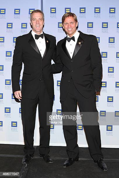 Congressman Sean Patrick Maloney and partner Randy Florke attend Human Rights Campaign's 2014 Greater New York Gala at The Waldorf=Astoria on...