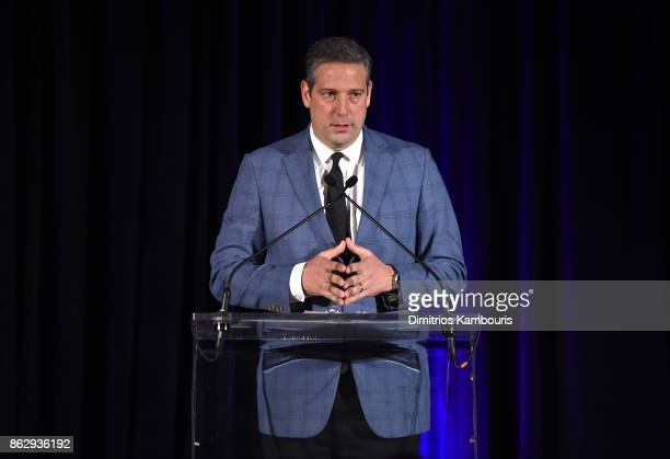 """Congressman Tim Ryan speaks on stage during """"Change Begins Within: Healing The Hidden Wounds Of War"""" Benefit Dinner & Conversation hosted by David..."""