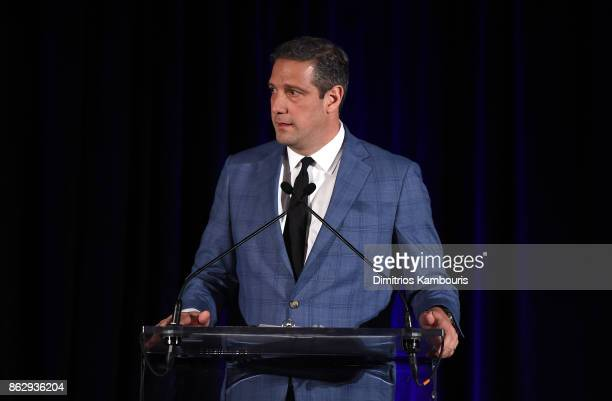 Congressman Tim Ryan speaks on stage during Change Begins Within Healing The Hidden Wounds Of War Benefit Dinner Conversation hosted by David Lynch...