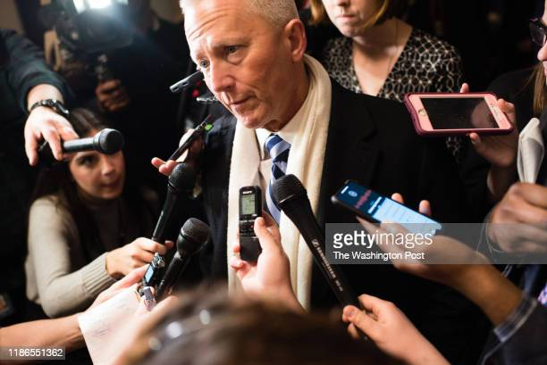 WASHINGTON DC NOVEMBER Congressmanelect Jeff Van Drew says he will not support Rep Nancy Pelosi He is pictured leaving a meeting at the Longworth...