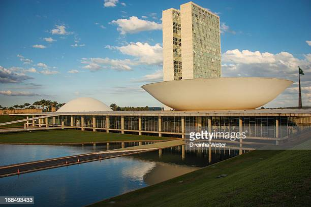 Congresso Nacional do Brasil. -The National Congress, a political institution which exercises the legislative branch, was designed by architect Oscar...