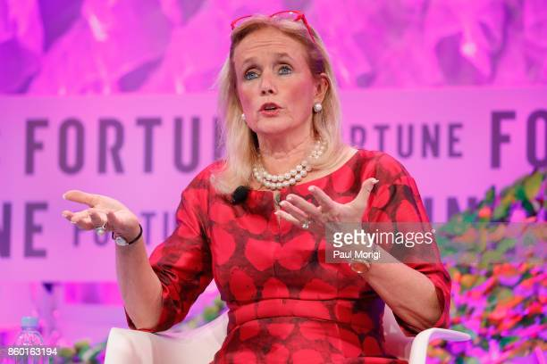 Congresswoman, 12th District, State of Michigan Debbie Dingell speaks onstage at the Fortune Most Powerful Women Summit - Day 3 on October 11, 2017...