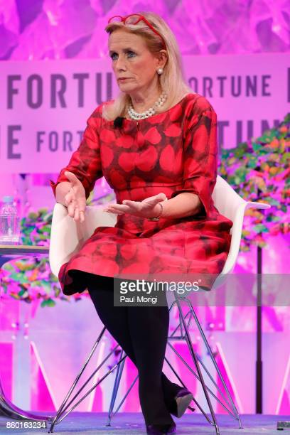 Congresswoman 12th District State of Michigan Debbie Dingell speaks onstage at the Fortune Most Powerful Women Summit Day 3 on October 11 2017 in...