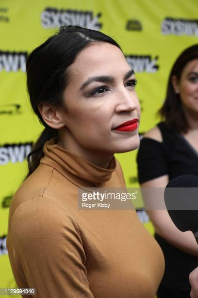 Congresswoman Alexandria OcasioCortez attends the SXSW premiere of the Netflix Original Documentary 'Knock Down the House' at The Paramount Theater...