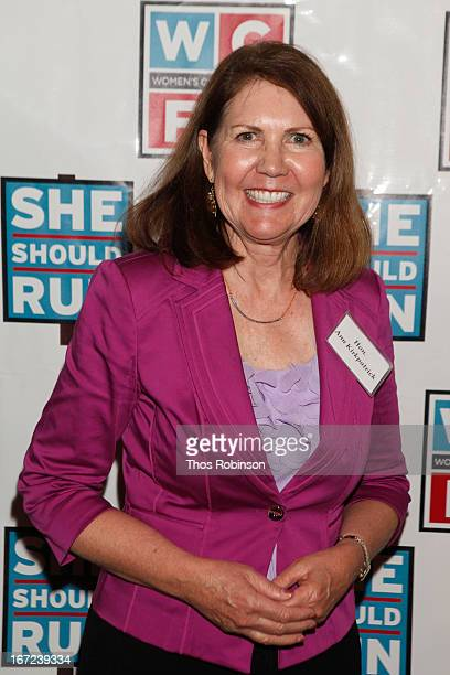 Congresswoman Ann Kirkpatrick attends the 33rd Annual Women's Campaign Fund Parties of Your Choice Gala at Christie's Auction House on April 22 2013...