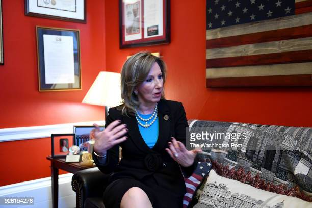Congresswoman Barbara Comstock who is emerging as a leader in Congress on the issue of sexual harassment talks about the issue in her office in the...