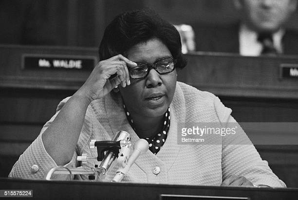 Congresswoman Barbara Jordan delivers her opening remarks on July 25 during the House Judiciary Committee's hearings on the issue of the impeachment...