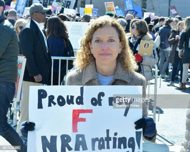 S Congresswoman Debbie Wasserman Schultz attends the March for Our Lives Rally on March 24 2018 in Washington DC