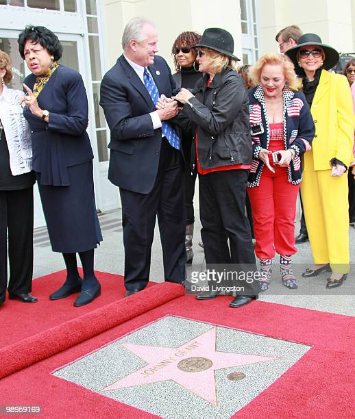 Congresswoman Diane E Watson Los Angeles city council member Tom LaBonge actresses Beverly Todd and Angie Dickinson singer/songwriter Carol Connors...