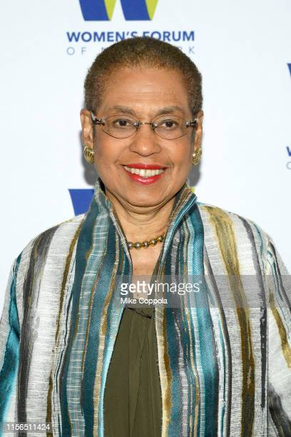 Congresswoman Eleanor Holmes Norton attends The 9th Annual Elly Awards Hosted By The Women's Forum Of New York on June 17 2019 in New York City