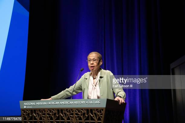 Congresswoman Eleanor Holmes Norton speaks at the 2019 Women's E3 Summit at National Museum Of African American History Culture on June 13 2019 in...