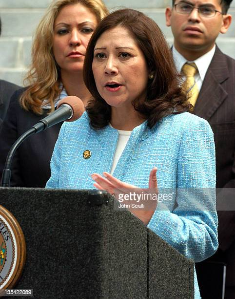 Congresswoman Hilda Solis during Don't Count Us Out Launch Los Angeles Campaign Press Conference at Los Angeles City Hall in Los Angeles California...