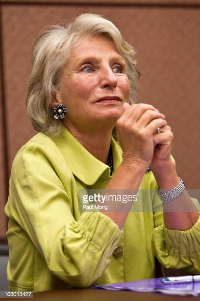 Congresswoman Jane Harman attends at the 5th annual Children Uniting Nations press conference at the US Capitol Visitor Center on July 21 2010 in...