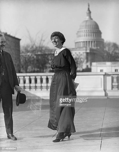 Congresswoman Jeannette Rankin is to be presented with the flag that flew at the House of Representatives during the passage of the suffrage amendment