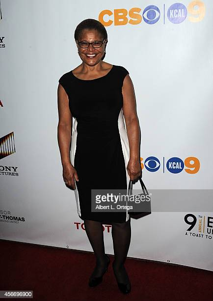 Congresswoman Karen Bass arrives for the Special Needs Network's 9th Annual 'Evening Under The Stars' A Toast To Old Hollywood held at Sony Studios...