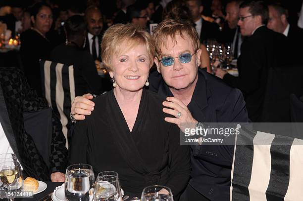 Congresswoman Kay Granger and Sir Elton John attend the Elton John AIDS Foundation's 11th Annual An Enduring Vision Benefit at Cipriani Wall Street...