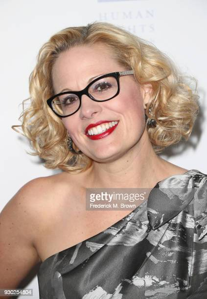 Congresswoman Kyrsten Sinema attends The Human Rights Campaign 2018 Los Angeles Gala Dinner at JW Marriott Los Angeles at LA LIVE on March 10 2018 in...