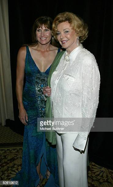 Congresswoman Mary Bono and Barbara Sinatra inside at the Seventh Annual Rick Weiss Humanitarian Award Gala at the Westin Mission Hills Resort on...