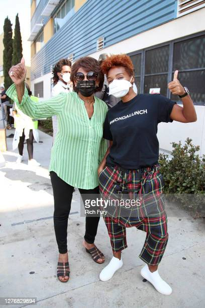 Congresswoman Maxine Waters and Janelle Monáe attend Wondalnd's #WONDALUNCH Los Angeles hosted by Janelle Monae, Angela Rye, and Congresswoman Maxine...