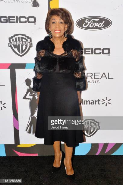 Congresswoman Maxine Waters arrives at the 2019 Essence Black Women In Hollywood Awards at the Beverly Wilshire Four Seasons Hotel on February 21...