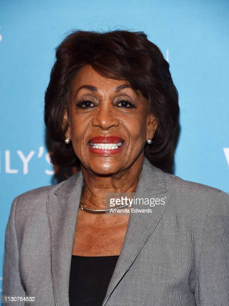 Congresswoman Maxine Waters arrives at the EMILY's List 2nd Annual Pre-Oscars Event at the Four Seasons Los Angeles at Beverly Hills on February 19,...