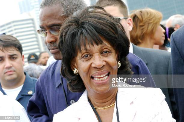 Congresswoman Maxine Waters during 40th Anniversary of the Voting Rights Act - March for Voting Rights, Jobs, Justice, & Peace August 6, 2005 at...