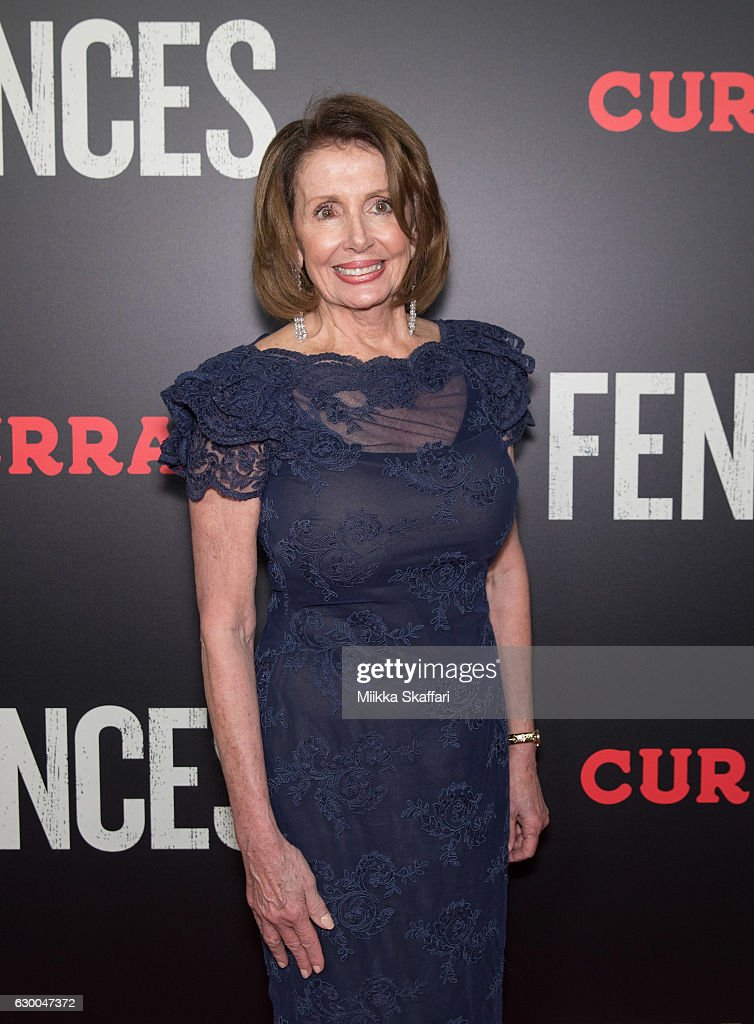 Congresswoman Nancy Pelosi arrives at the Premiere of 'Fences' at Curran Theatre on December 15, 2016 in San Francisco, California.