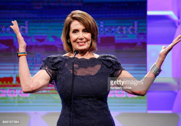 Congresswoman Nancy Pelosi speaks at the 2017 GLAAD Gala at City View at Metreon on September 9, 2017 in San Francisco, California.