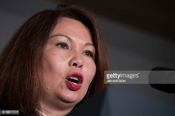 Congresswoman Tammy Duckworth DIL speaks during a Coordinated Victory Fund Event in Chicago Illinois October 9 2016 / AFP / JIM WATSON