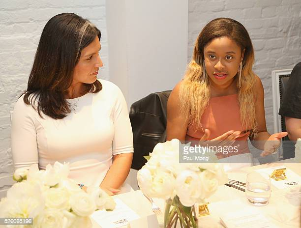 Congresswoman Tulsi Gabbard and Phoebe Robinson attend the Glamour and Facebook brunch to discuss sexism in 2016 during WHCD Weekend at Kinship on...