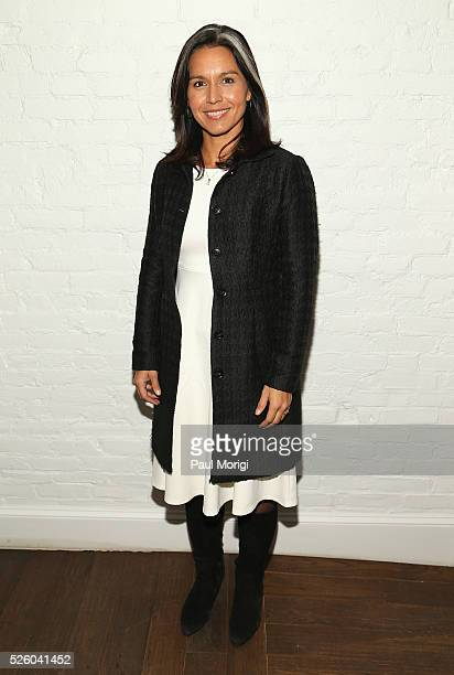 Congresswoman Tulsi Gabbard attends the Glamour and Facebook brunch to discuss sexism in 2016 during WHCD Weekend at Kinship on April 29 2016 in...