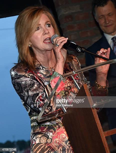 Congresswomen Marsha Blackburn attends Recording Artist and Legend George Jones Museum Grand Opening on April 23 2015 in Nashville Tennessee