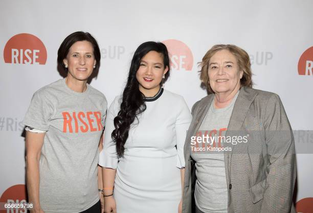 Congresswomen Mimi Walters Amanda Nguyen and Congresswomen Zoe Lofgren attends Rise and Funny Or Die's PSA premiere hosted by Tatiana Maslany on...