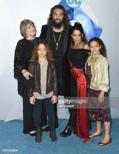 Coni Momoa Jason Momoa NakoaWolf Manakauapo Namakaeha Momoa Lisa Bonet and Lola Iolani Momoa attend the premiere of Warner Bros Pictures' Aquaman at...