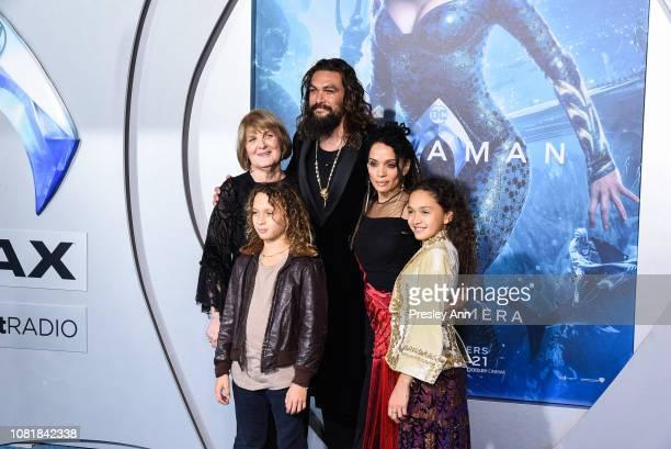Coni Momoa Jason Momoa NakoaWolf Manakauapo Namakaeha Momoa Lisa Bonet and Lola Iolani Momoa attends the premiere of Warner Bros Pictures' Aquaman at...