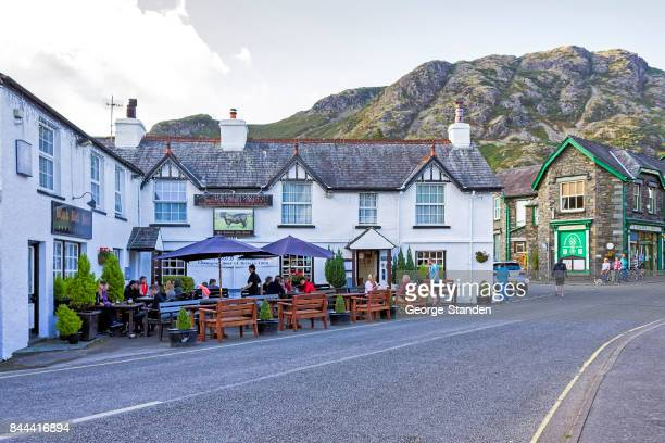 coniston village - english lake district stock photos and pictures