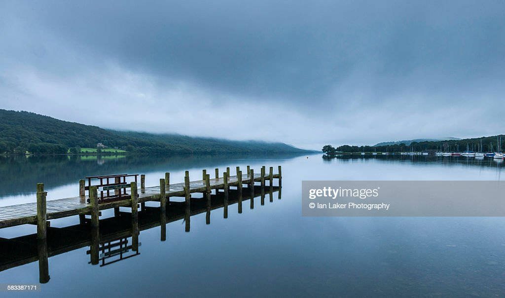 Coniston Water at dawn : Stock Photo