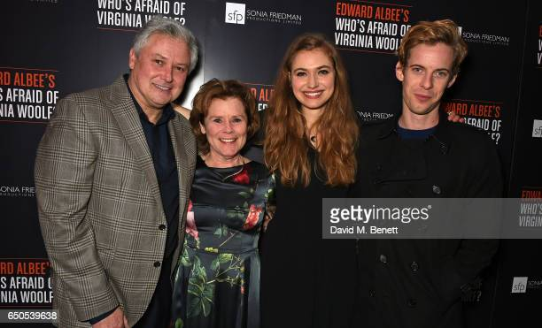 Conleth Hill Imelda Staunton Imogen Poots and Luke Treadaway attend the press night after party for Who's Afraid Of Virginia Woolf at 100 Wardour St...
