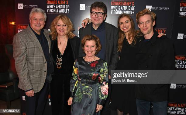 Conleth Hill Sonia Friedman Imelda Staunton James Macdonald Imogen Poots and Luke Treadaway attend the press night after party for Who's Afraid Of...