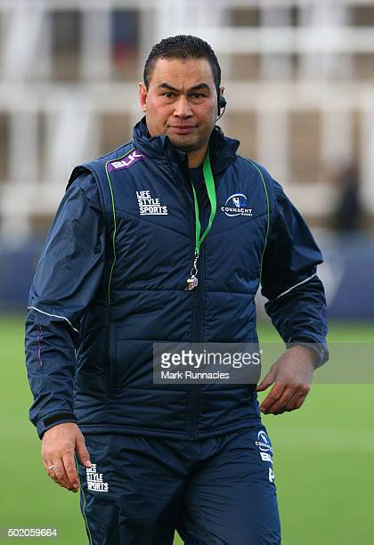 Connacht Rugby head coach Pat Lam during the European Rugby Challenge Cup pool 1 match between Newcastle Falcons and Connacht Rugby on December 20...