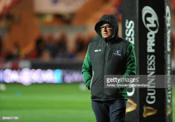 Connacht's Head Coach Kieran Keane during the Guinness Pro14 Round 5 match between Scarlets and Connacht Rugby at Parc y Scarlets on September 29...