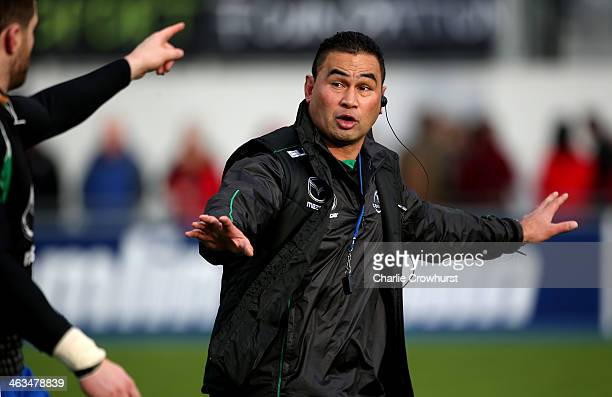 Connact director of rugby Pat Lam during the Heineken Cup round six match between Saracens and Connacht at Allianz Park on January 18 2014 in London...