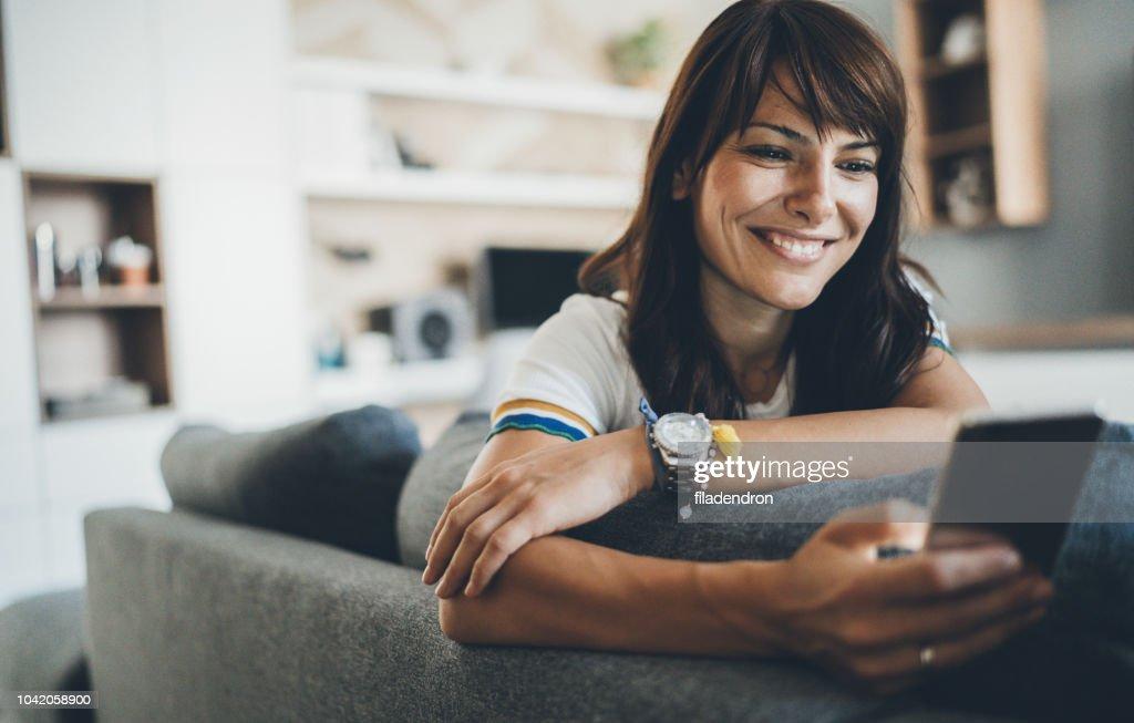 Connected in comfort : Foto stock