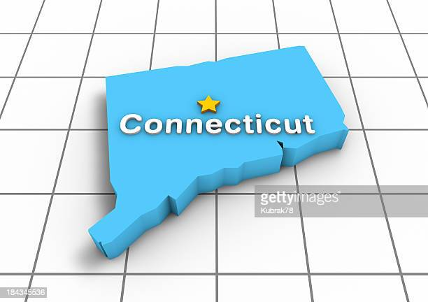 Connecticut 3D State Map