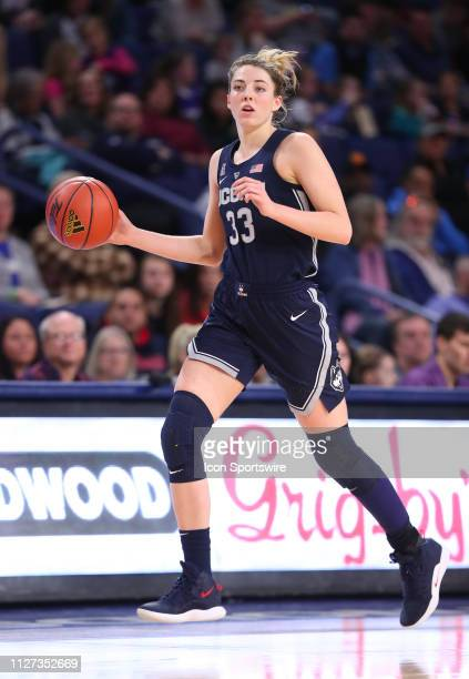Connecticut Guard Katie Lou Samuelson during a college basketball game between the UCONN Huskies and the Tulsa Golden Hurricanes on February 24 at...