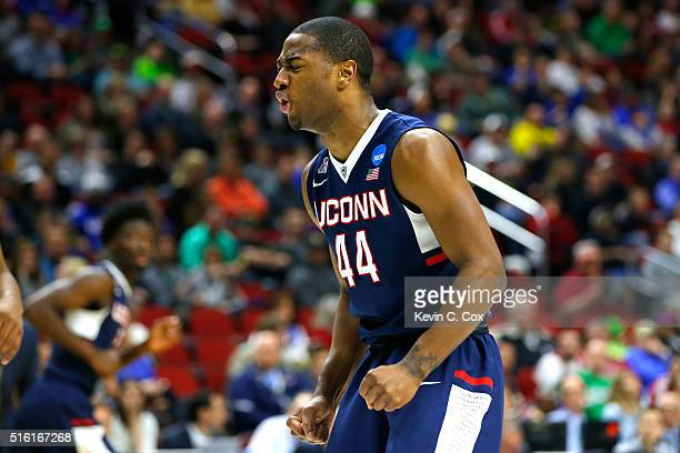 Connecticut Huskies 44 reacts after a basket in the second half against the Colorado Buffaloes during the first round of the 2016 NCAA Men's...