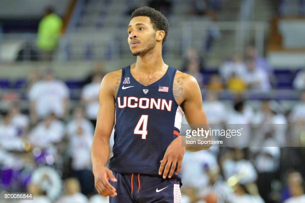 Connecticut Huskies guard Jalen Adams during a game between the ECU Pirates and the UConn Huskies at Williams Arena Minges Coliseum in Greenville NC...
